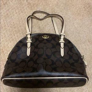 Gently used small coach handbag